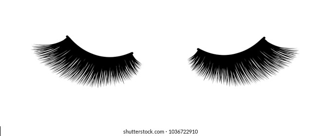 Eyelash extension. A beautiful make-up. Thick fuzzy cilia. Mascara for volume and length.
