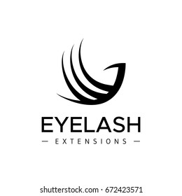 Eyelash extension logo. Abstract bird on a white background. Vector illustration in a modern style