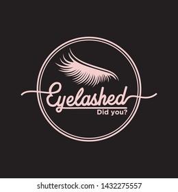 eyelash extension logo design template