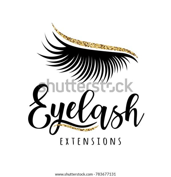 Eyelash Extension Logo Vector Illustration Lashes Stock