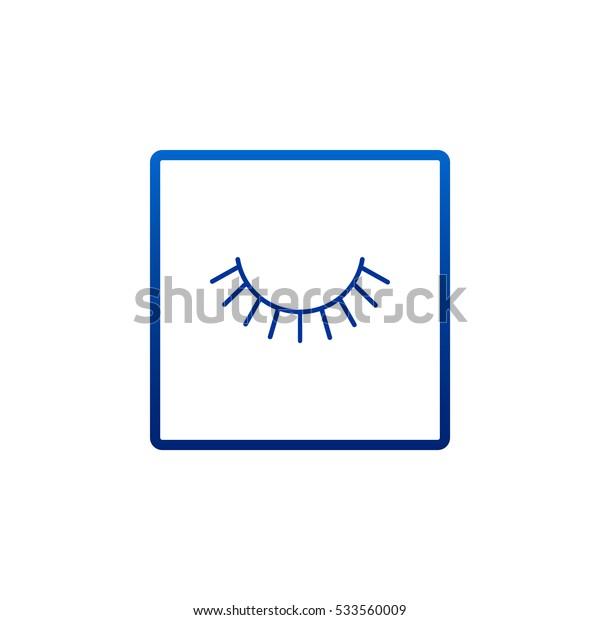 Eyelash icon Vector.