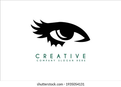 Eyelash Logo design, Vector Cosmetic Brand Logo Design