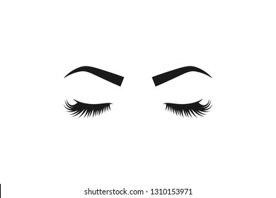Eyelashes and eyebrows illustration