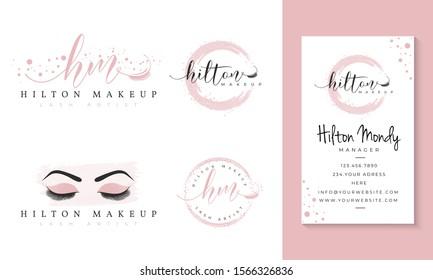 eyelashes feminine logo collections template  vector