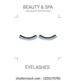 eyelashes icon. high quality filled eyelashes icon on white background. from beauty collection flat trendy vector eyelashes symbol. use for web and mobile