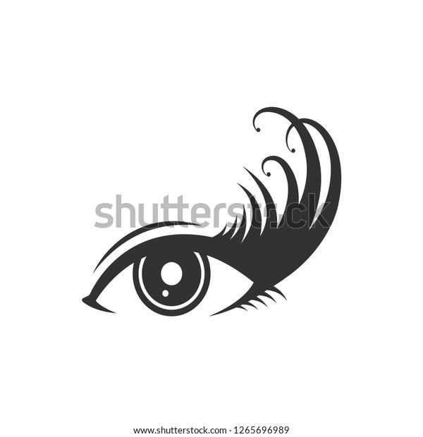 Eyelashes Logo Icon Design Template Vector Stock Vector