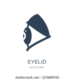 eyelid icon vector on white background, eyelid trendy filled icons from Guestures collection, eyelid vector illustration