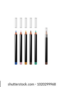 Eyeliners on white background