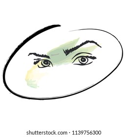 Eyes and brows watercolor elements