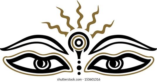 Buddha Eyes Images Stock Photos Vectors Shutterstock