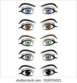 eye's color variations vector design illustration