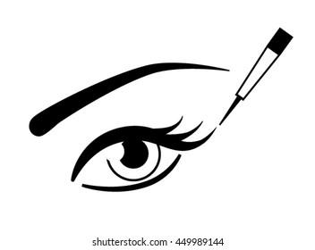 eyes and eye liner