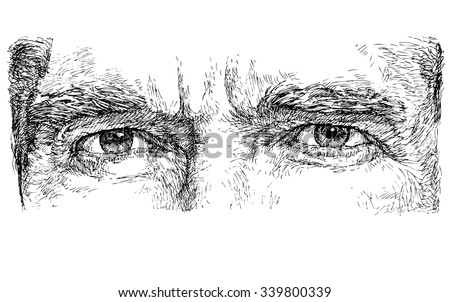 Eyes hand drawn vector