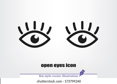 eyes icon vector illustration eps10. Isolated badge for website or app - stock infographics