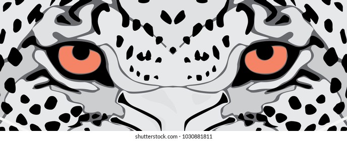 eyes of leopard vector file