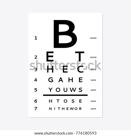 Eyes Test Chart Tests Adult Childrens Stock Vector Royalty Free