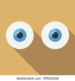 eyes in vector flat design