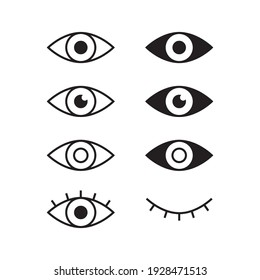 Eyes vector icon. Simple eye illustration
