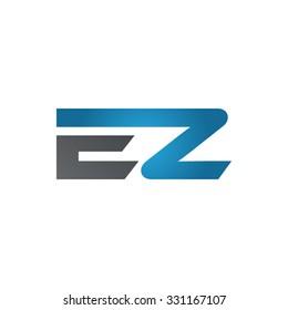 EZ company linked letter logo blue