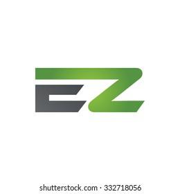 EZ company linked letter logo green