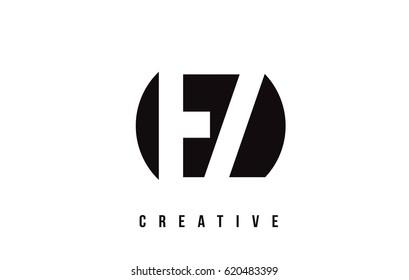 EZ E Z White Letter Logo Design with Circle Background Vector Illustration Template.