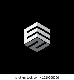 EZ initial logo vector