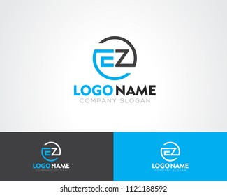 EZ Letter Logo Template Vector Illustration