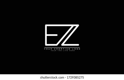 EZ ZE abstract vector logo monogram template