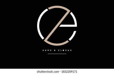 EZ ,ZE ,E ,Z  Abstract Letters Logo Monogram