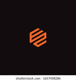 EZ or ZE unique monogram style vector logo design.