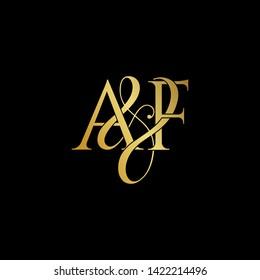 A & F / AF logo initial vector mark