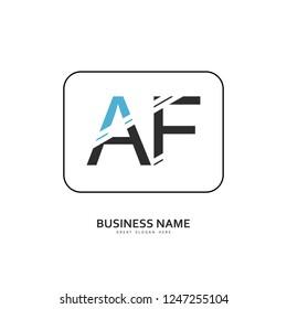 A F AF Logo Letter Design Vector