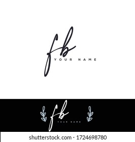 F B FB Initial letter handwriting and signature logo.