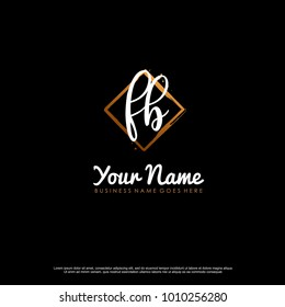 F B Initial abstract logo template vector