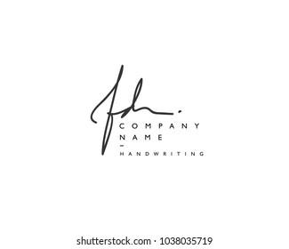 F D Initial handwriting logo