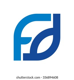 f and d logotype. logo vector.