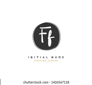F FF Beauty vector initial logo, handwriting logo of initial signature, wedding, fashion, jewerly, boutique, floral and botanical with creative template for any company or business.
