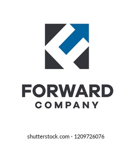 f forward logo icon designs vector