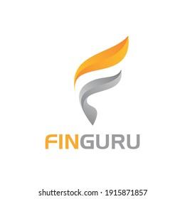 F gas logo design eps