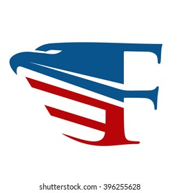 F initial and Eagle Logo