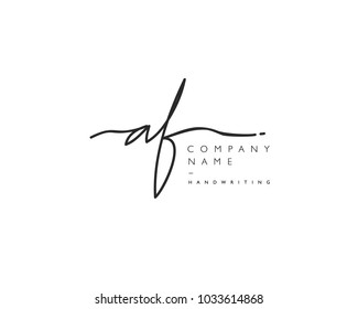 A F Initial handwriting logo