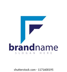 F Letter Arrow Abstract Logo stock template