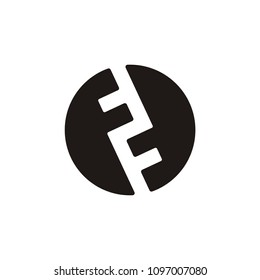 F letter circle vector logo