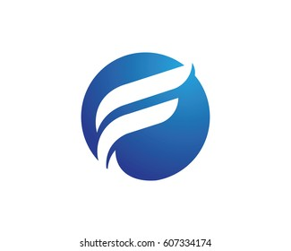 F Letter Faster Logo Template vector icon illustration design