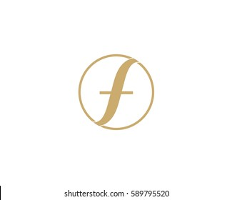F Letter logo Abstract design for fashion Business  ,logo icon design template.