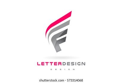 F Letter Logo Design. Futuristic Modern Lettering Concept Vector.