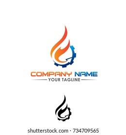 F letter logo, fire machine logo design