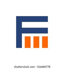f m logo vector