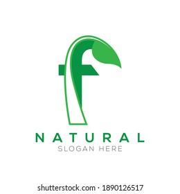 f Natural Green Logo Vector
