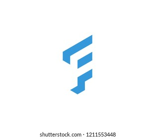 f negative space logo designs